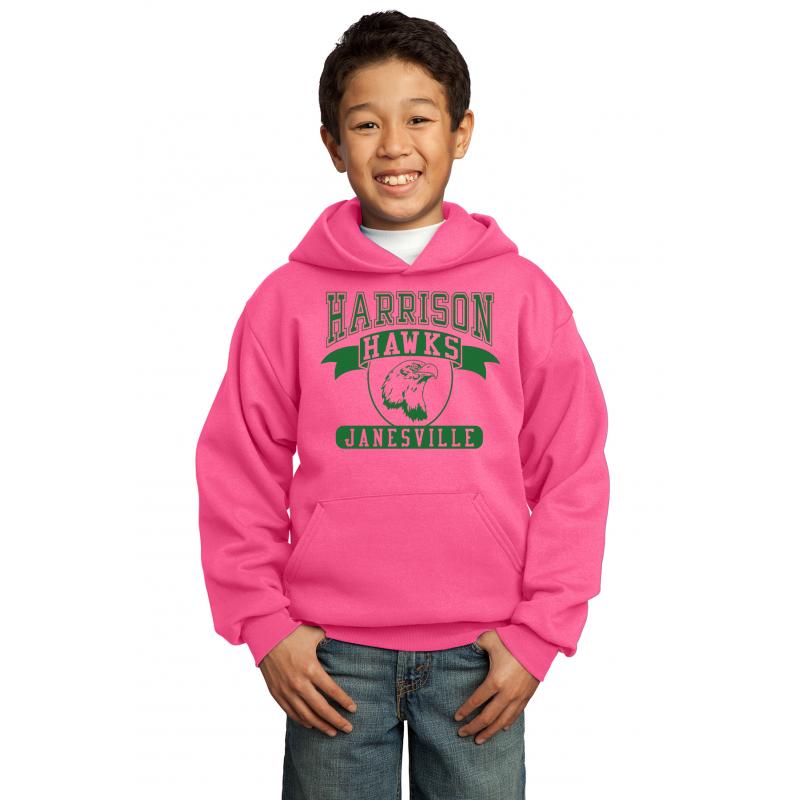 Harrison Hawks Full Front Youth Heavy Blend™ Hooded Sweatshirt