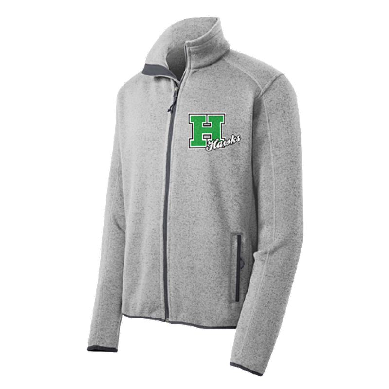 Harrison Hawks Adult Sweater Fleece Jacket