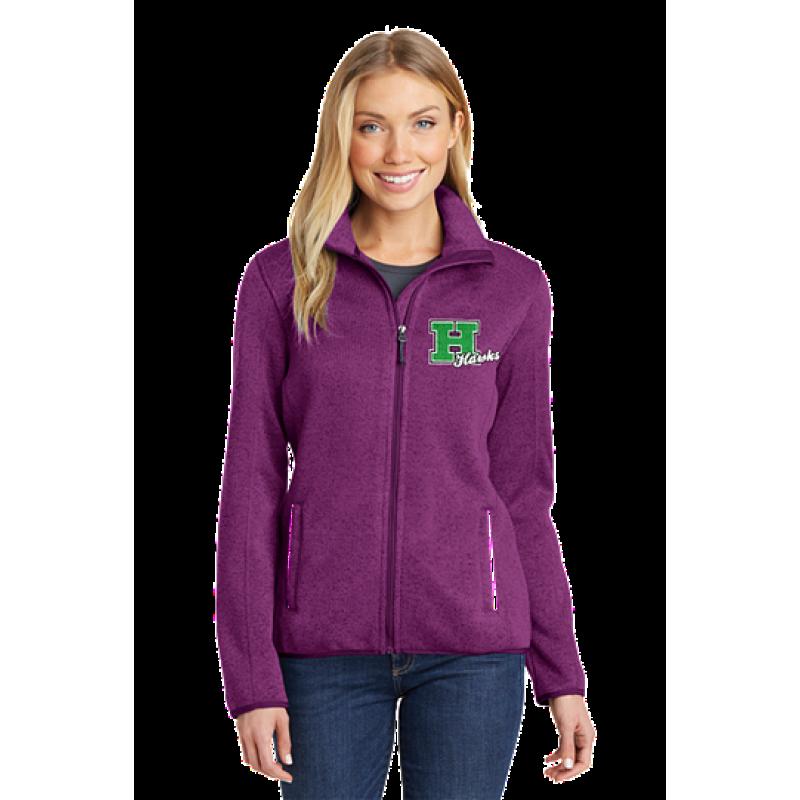 Harrison Hawks Adult Ladies Sweater Fleece Jacket