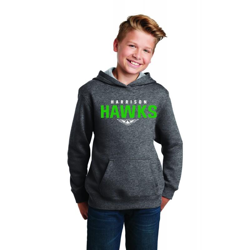 HARRISON HAWKS YST254, Sport-Tek® Youth Pullover Hooded Sweatshirt