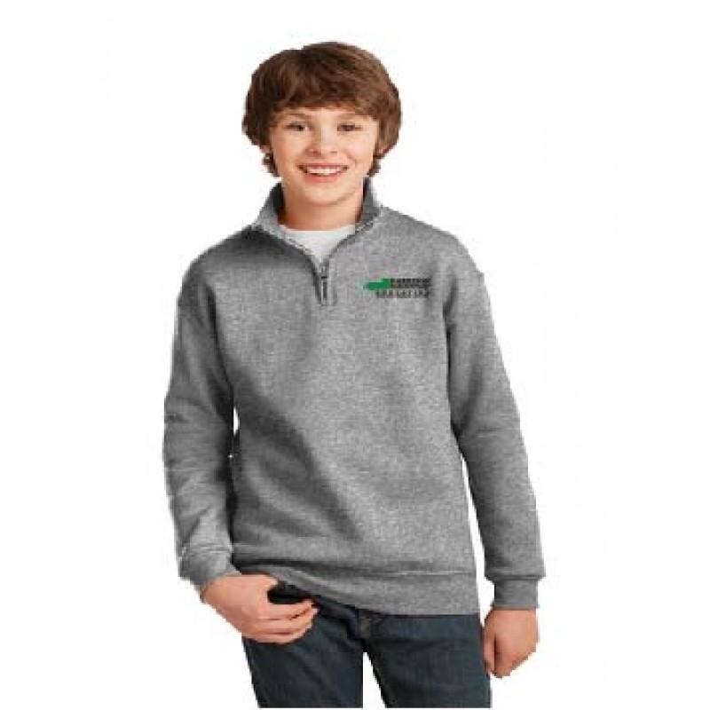 Harrison 995Y, Youth 1/4-Zip Cadet Collar Sweatshirt