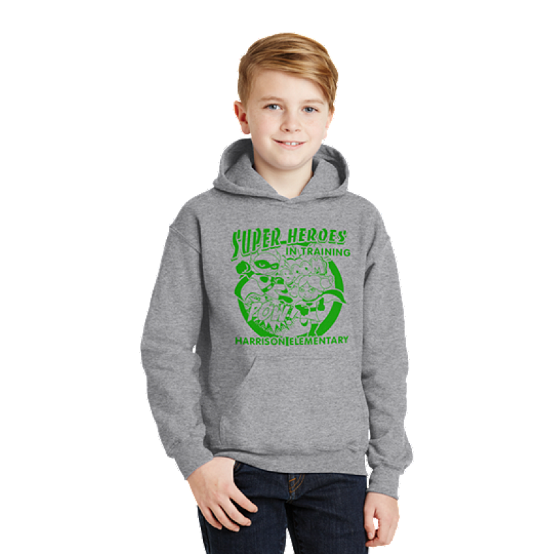 Harrison Hawks Superhero Youth Heavy Blend™ Hooded Sweatshirt