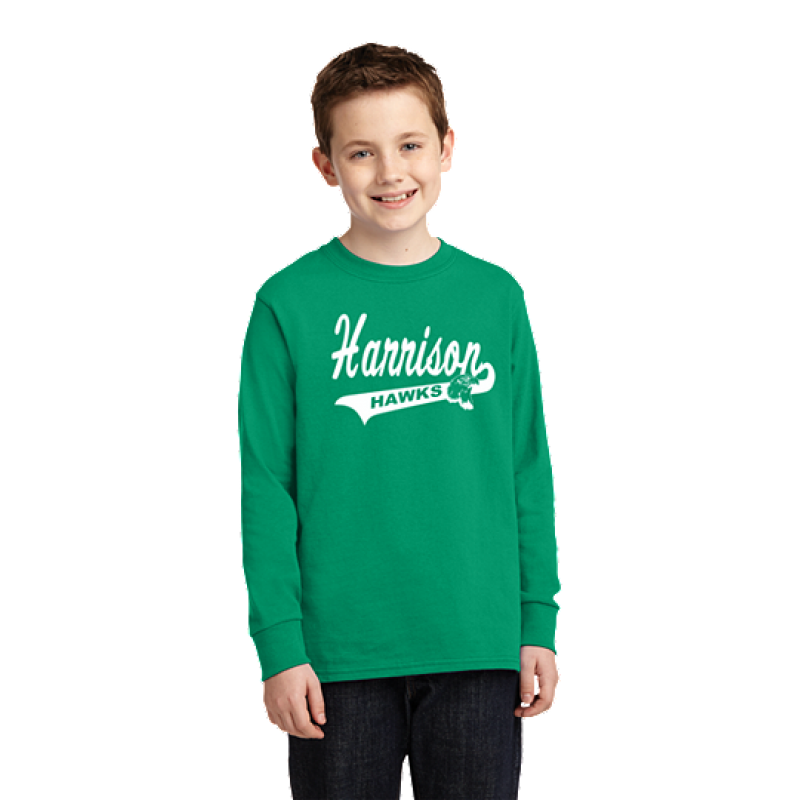 Harrison Hawks Tail Youth Long Sleeve Core Cotton Tee