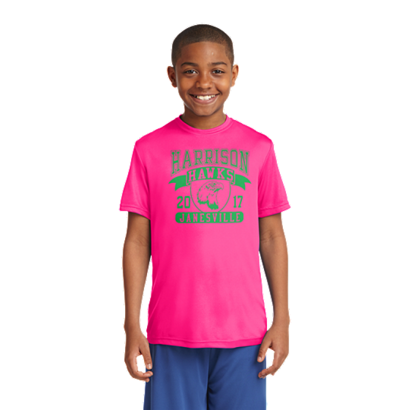 Harrison Hawks Full Front Youth PosiCharge® Competitor™ Tee